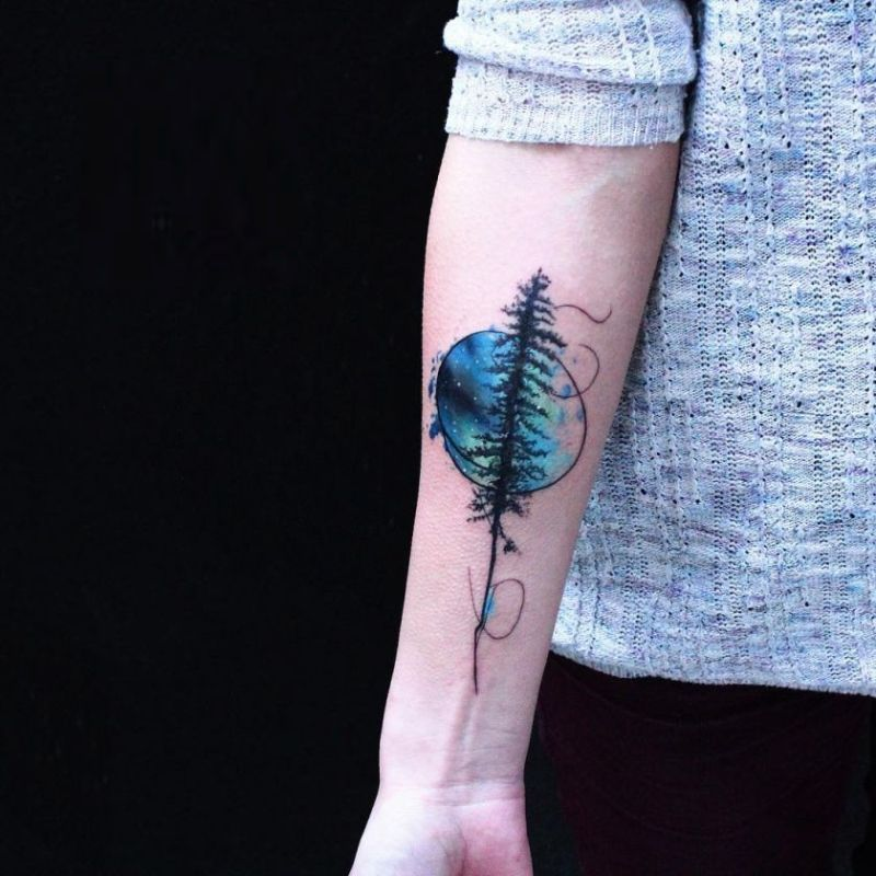 watercolor tattoos will turn your body into a living