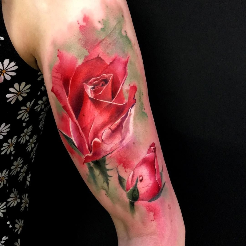 watercolor tattoos for women