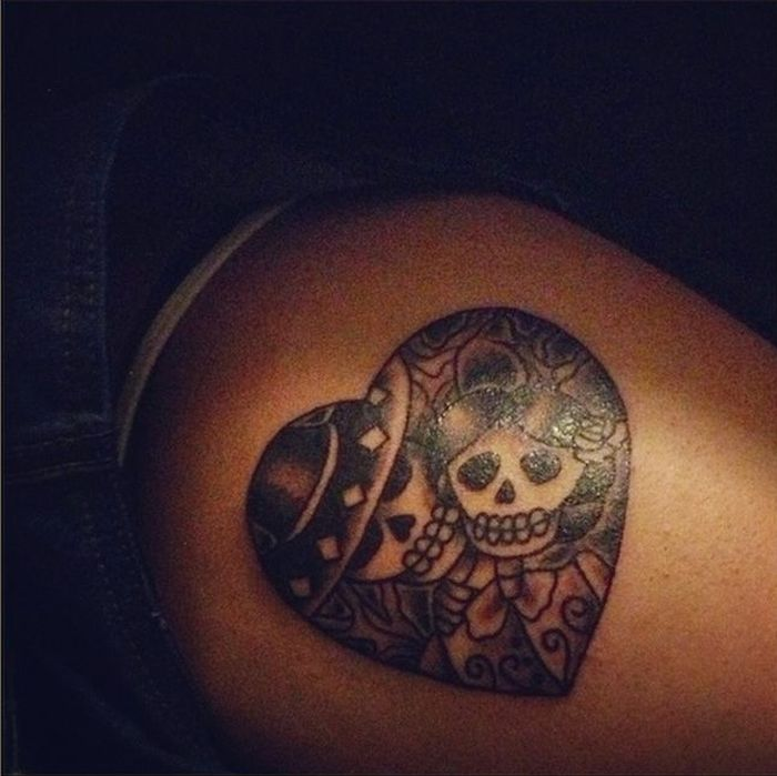 Day Of The Dead Couple Tattoo 47