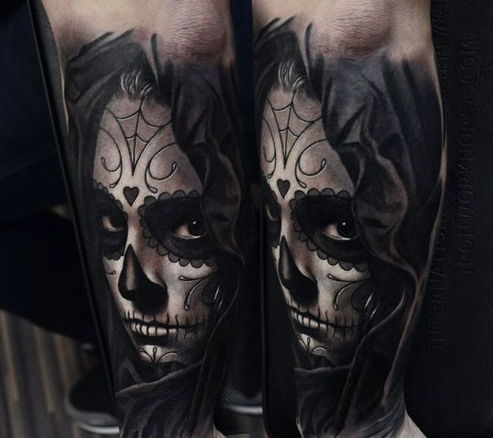Day Of The Dead Tattoo By A.D Pancho (2)