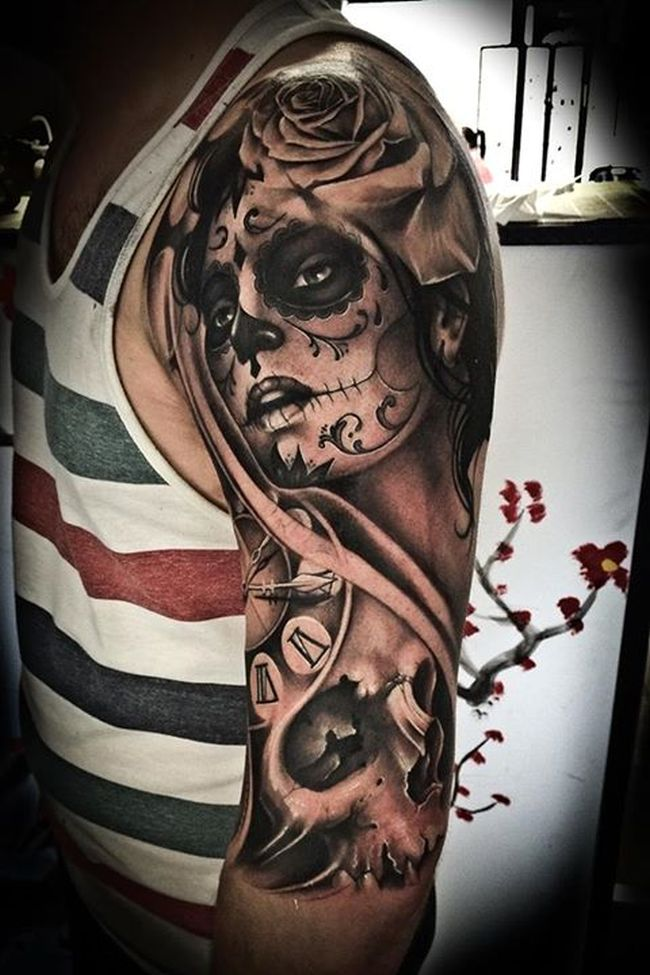 Day Of The Dead Tattoos (9)