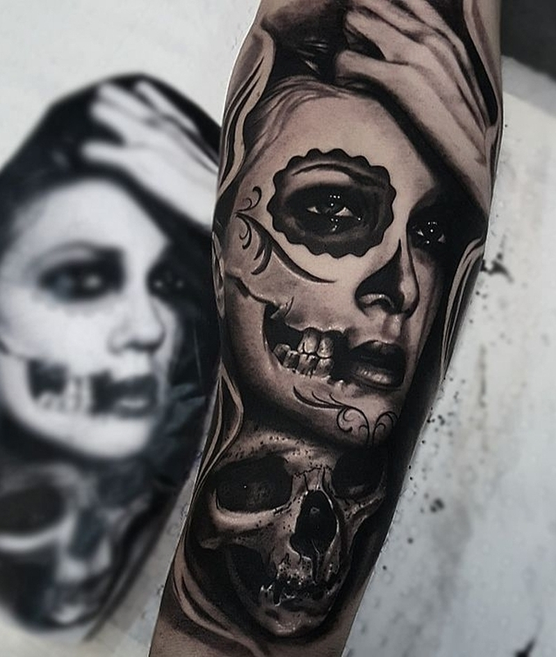 best Day of the dead tattoo
