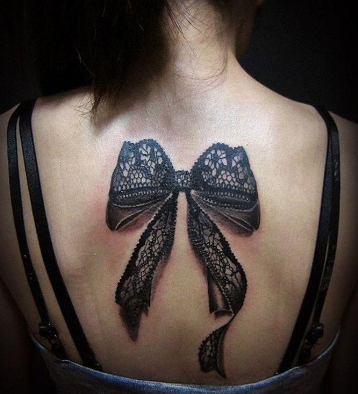 3D lace bowknot tattoo 32