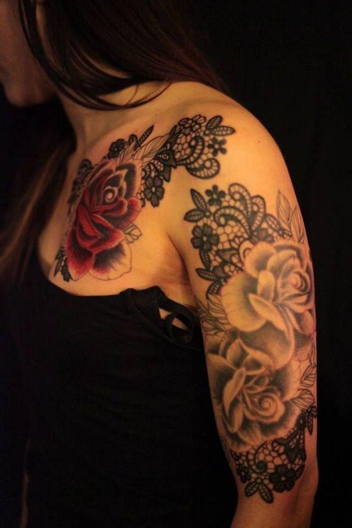 Lace Rose Tattoo 31