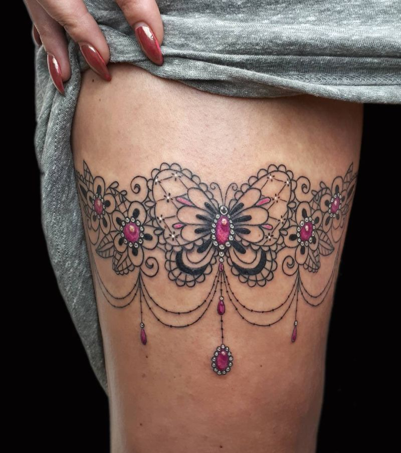 55b355a2c Celebrate Femininity With 50 Of The Most Beautiful Lace Tattoos You ...