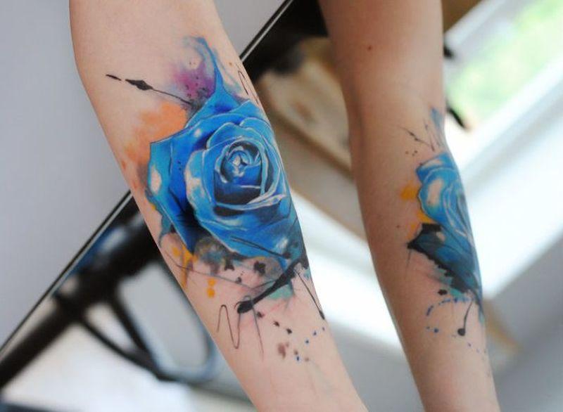 Blue Rose Tattoo 44 (S) - KickAss Things