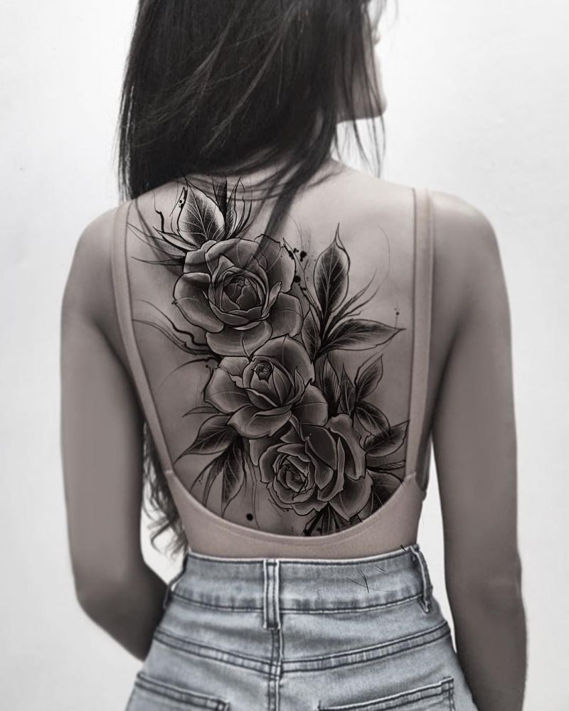 d271e956d Feed Your Ink Addiction With 50 Of The Most Beautiful Rose Tattoo ...