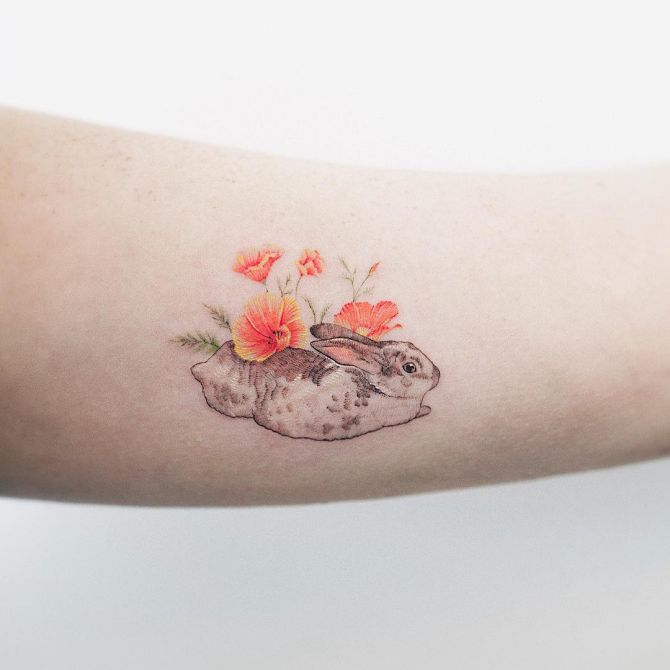 7d508a306 Beauty Lies In Simplicity: Minimalist Animal Tattoos Created At Sol ...