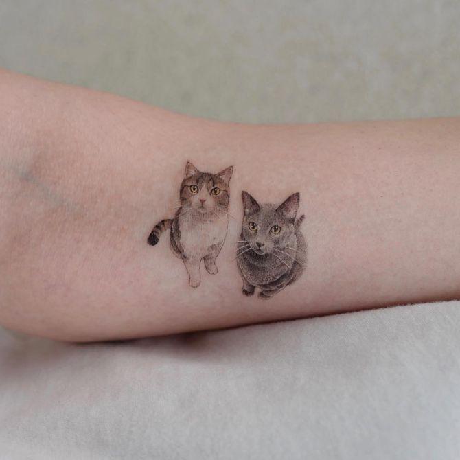 minimalist cat tattoo ideas
