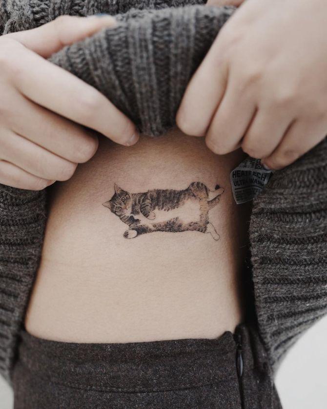 minimalist animal tattoos