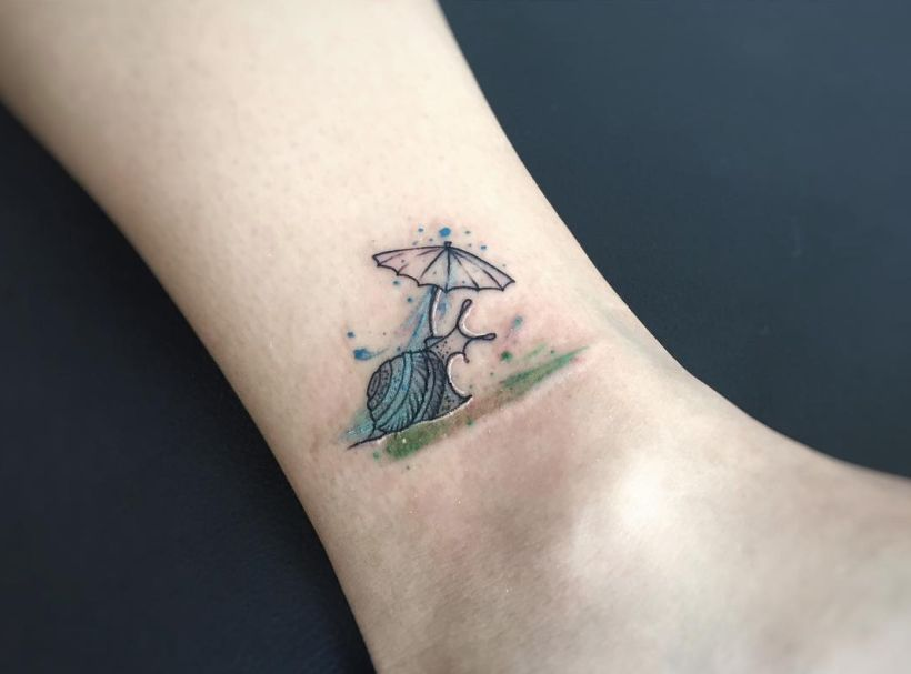 Geometric and Abstract Tattoos with a Splash of Watercolor