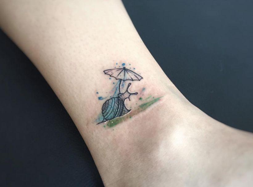 Schnecken tattoo