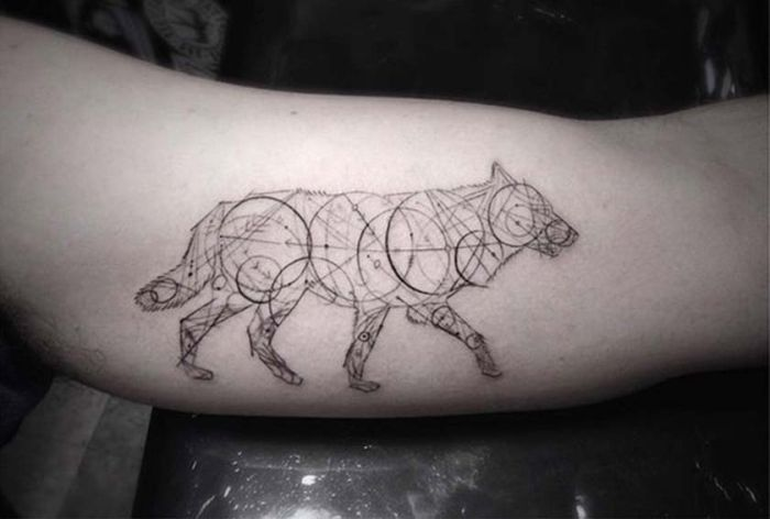 Geometric Wolf Tattoo By Dr.Woo (7)