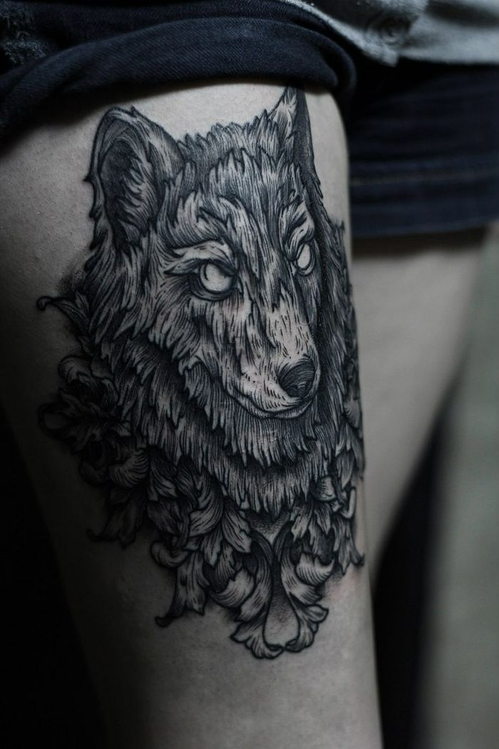 abstract wolf tattoo (12)
