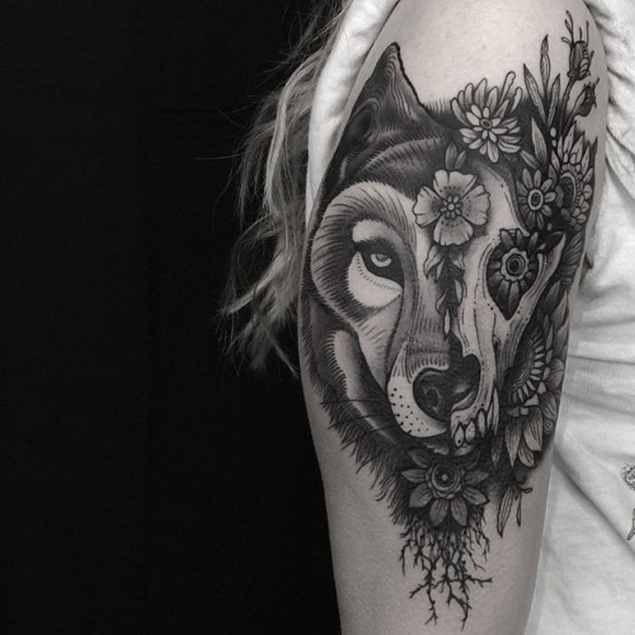 abstract wolf tattoo (33)