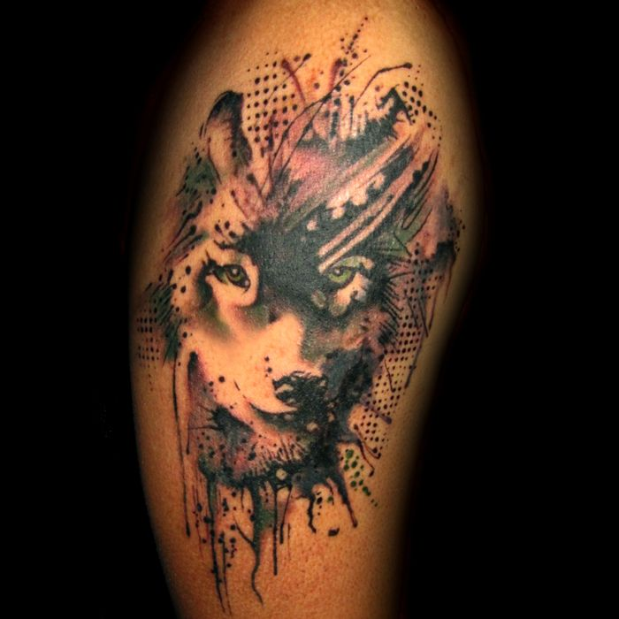 abstract wolf tattoo (38)
