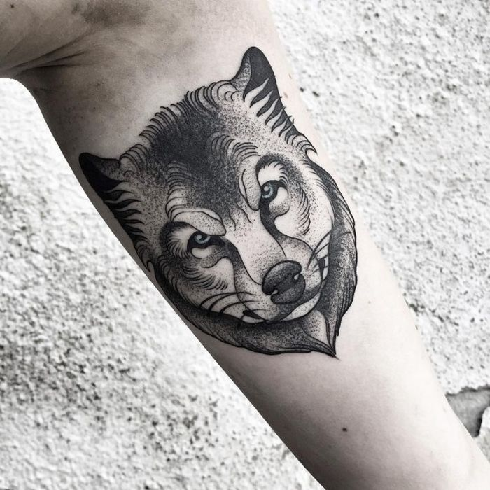 abstract wolf tattoo (48)