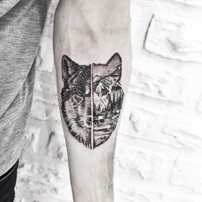 50 Breathtaking Wolf Tattoo Designs: Awesome Wolf Tattoo Designs (2)