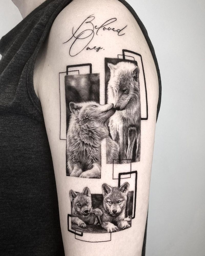 wolves family tattoo
