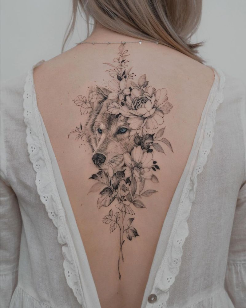 cool wolf tattoos for women