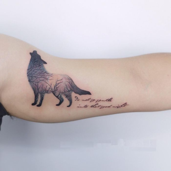 creative wolf tattoo ideas