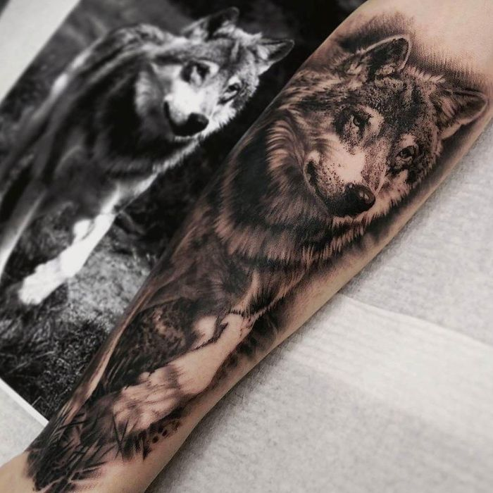 50 of the most beautiful wolf tattoo designs the internet has ever seen kickass things. Black Bedroom Furniture Sets. Home Design Ideas