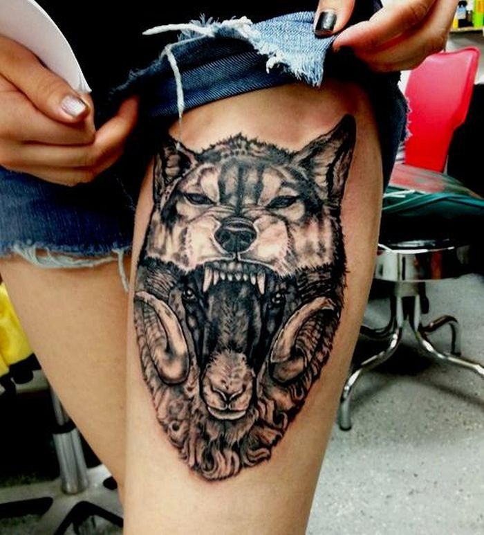wolf abstract tattoo design (39)