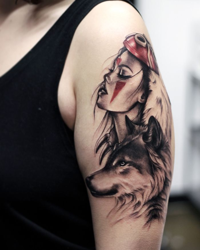 wolf tattoo designs for women