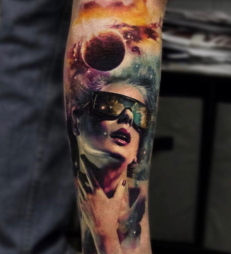face morph tattoos