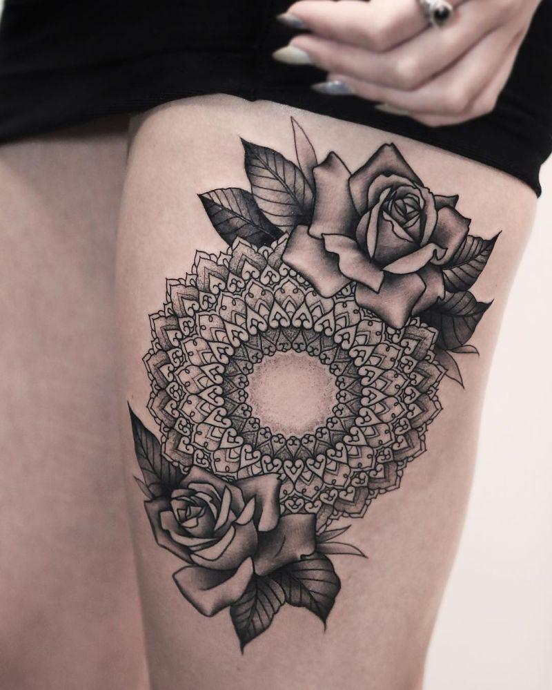 beautiful mandala tattoo