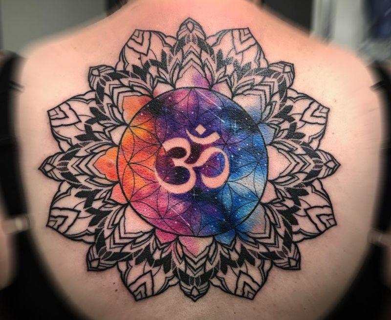 Cosmic mandala tattoo