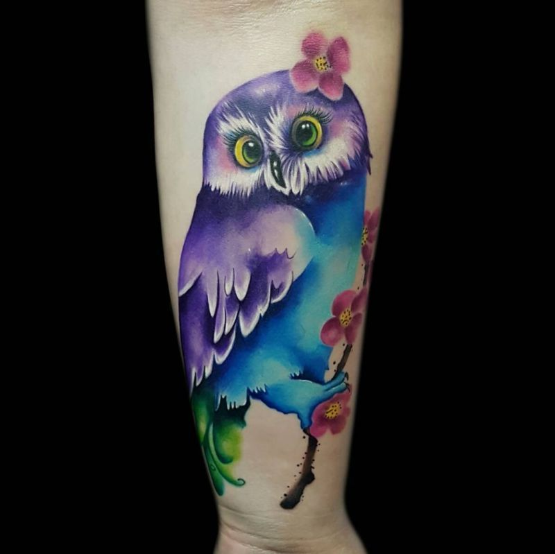 b942283a6d0f7 50 of the Most Beautiful Owl Tattoo Designs and Their Meaning for ...