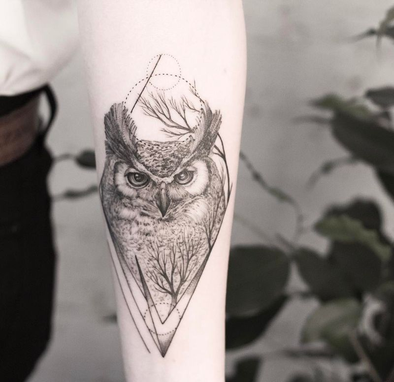 8ceadf62d 50 of the Most Beautiful Owl Tattoo Designs and Their Meaning for ...
