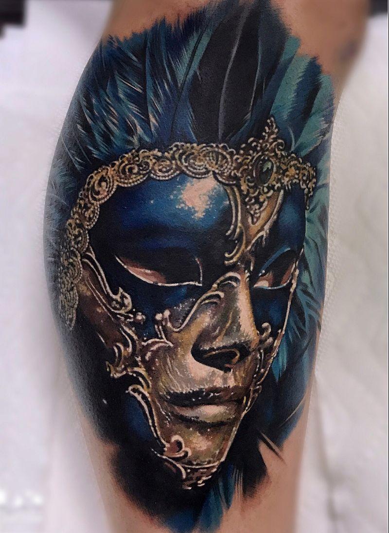 Masquerade Mask Tattoo