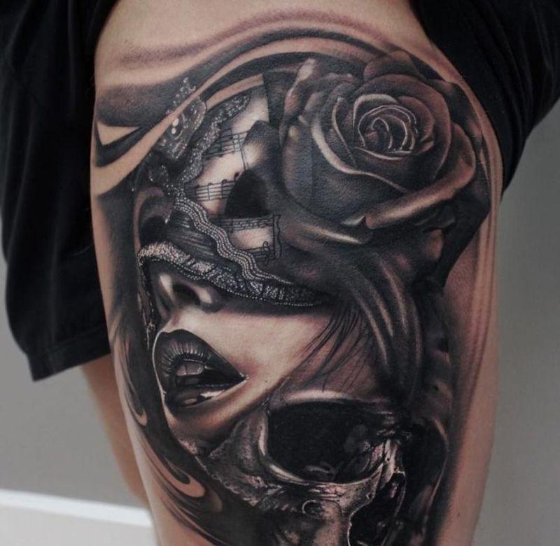 Masken Tattoo