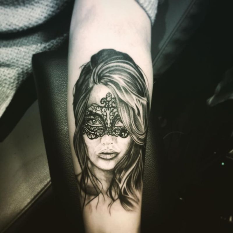 8979150a1 Beautiful Masquerade Woman Tattoo. Below You Can Find 30 Creative Examples  Of Venetian Mask Tattoos Put Together For Your Inspiration