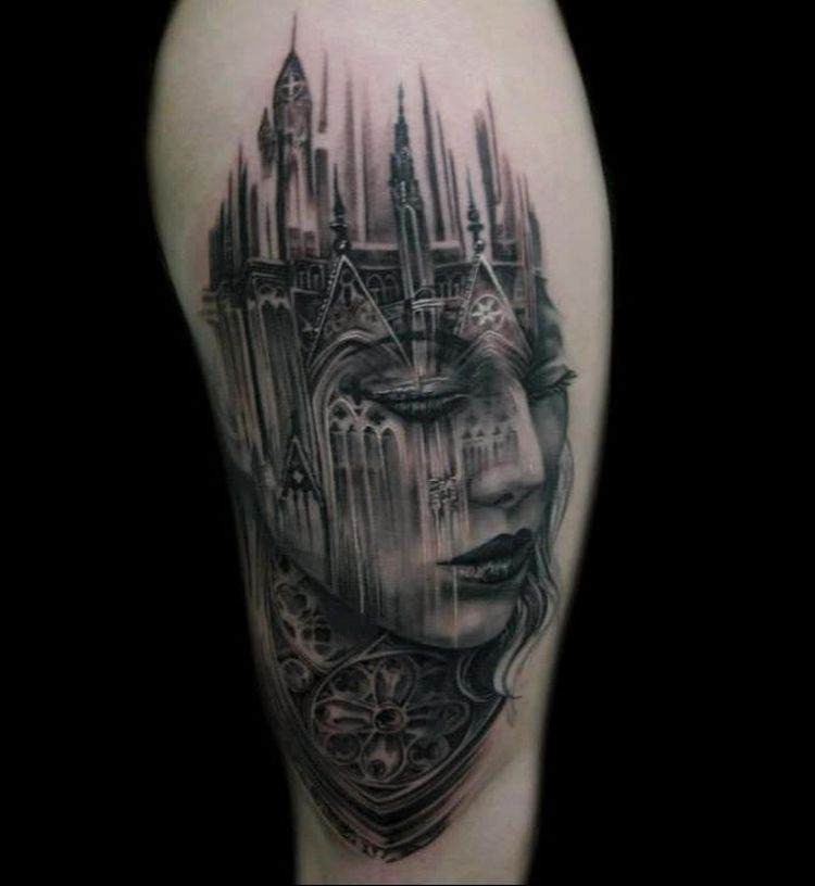 35 of the best architecture tattoos or how to have your world on a sleeve kickass things. Black Bedroom Furniture Sets. Home Design Ideas