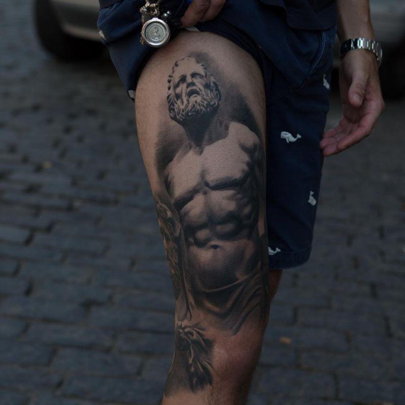Anatole from bang bang tattoo studio creates beautiful for Minimalist tattoo nyc
