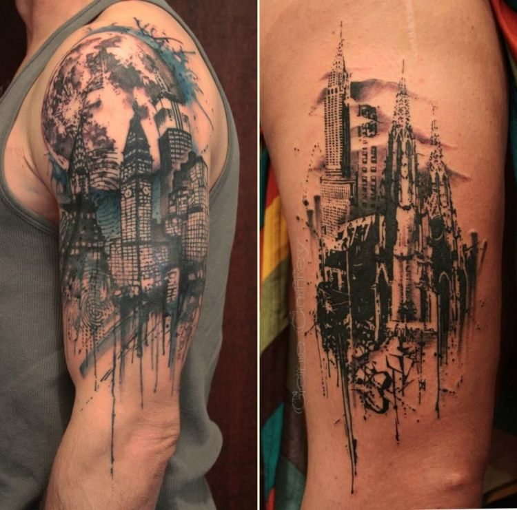 35 of the best architecture tattoos or how to have your for Free tattoos nyc 2017