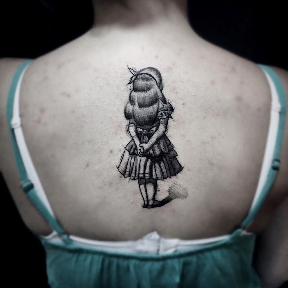 Colorful and Sketchy Tattoos By Felipe Mello