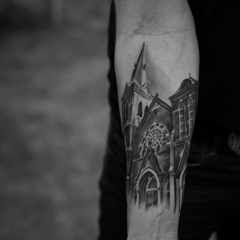 Architecture Tattoo By Anatole From Bang NYC 4