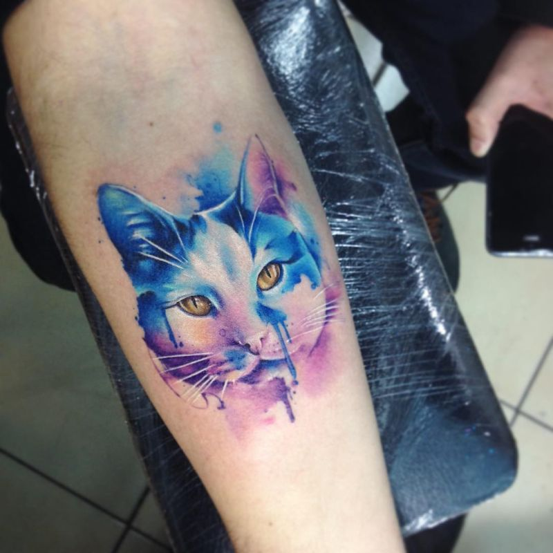 Stunning watercolor tattoos by adrian bascur kickass things for Things tattoo artists love