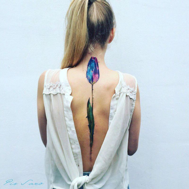 Wonderful Sketchy Watercolor Tattoos