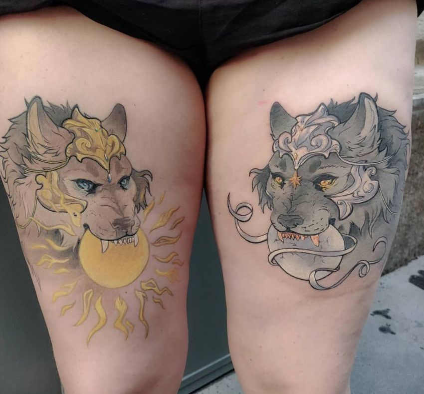 sun & moon tattoo ideas