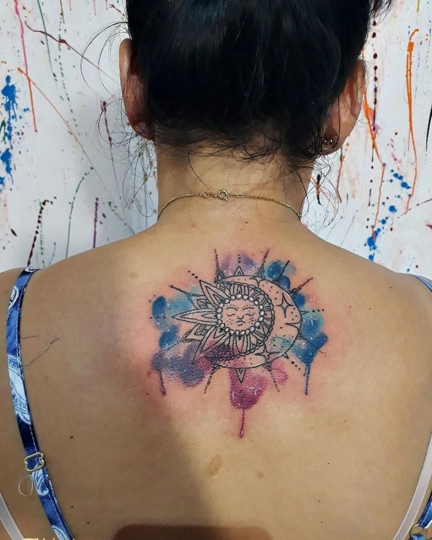 50 meaningful and beautiful sun and moon tattoos kickass things sun and moon tattoos for couples buycottarizona Image collections