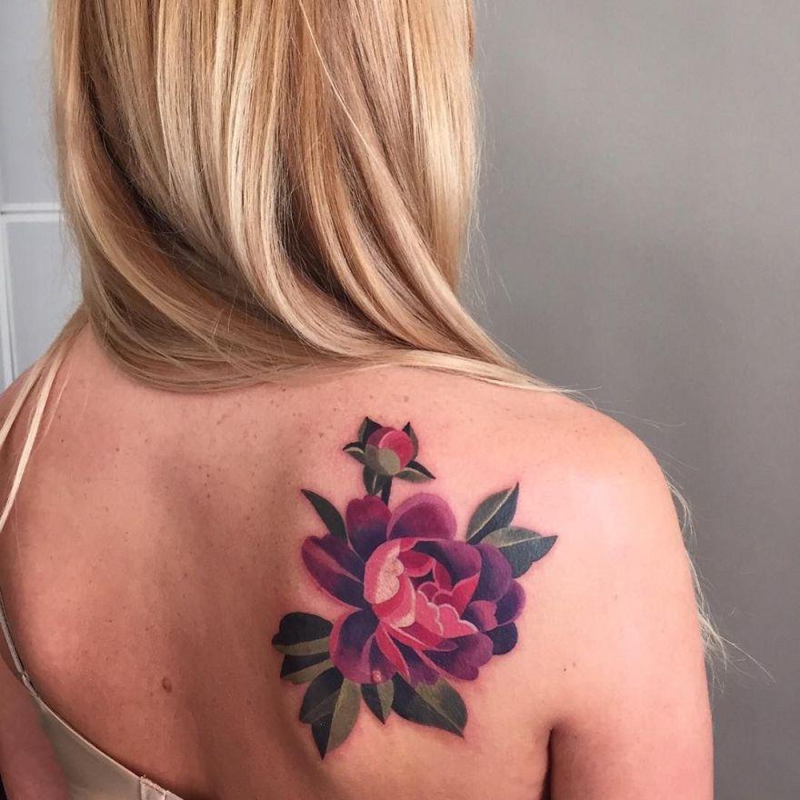 watercolor tattoo by Sasha Unisex