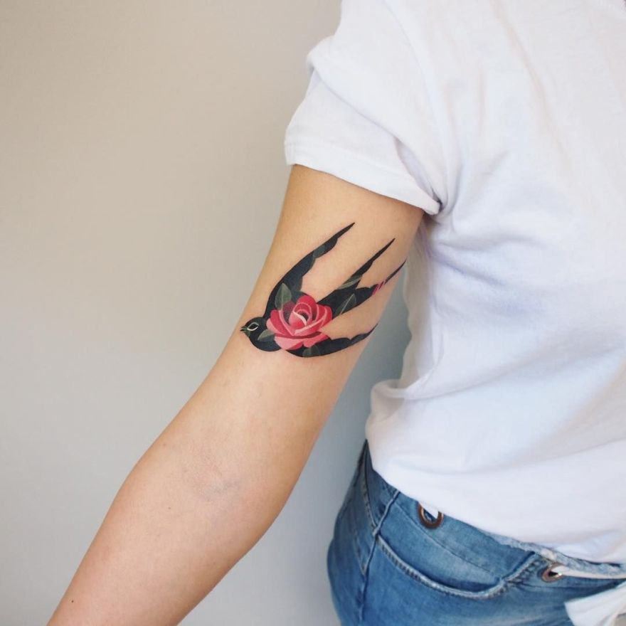 watercolor tattoos by Sasha Unisex