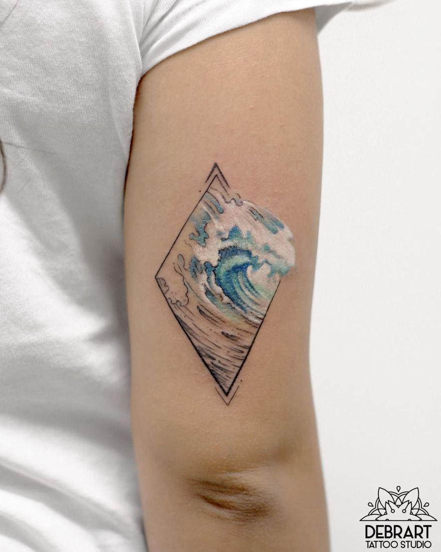 watercolor ink pieces