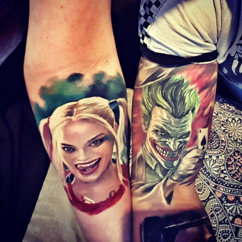 Matching Joker And Harley Tattoo: Ink Your Love With These Creative Couple Tattoos