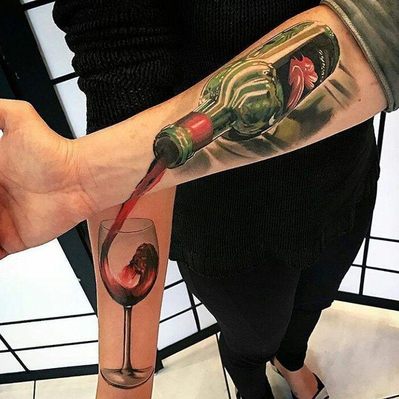 creative couple tattoo